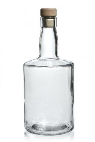 botella de vidrio